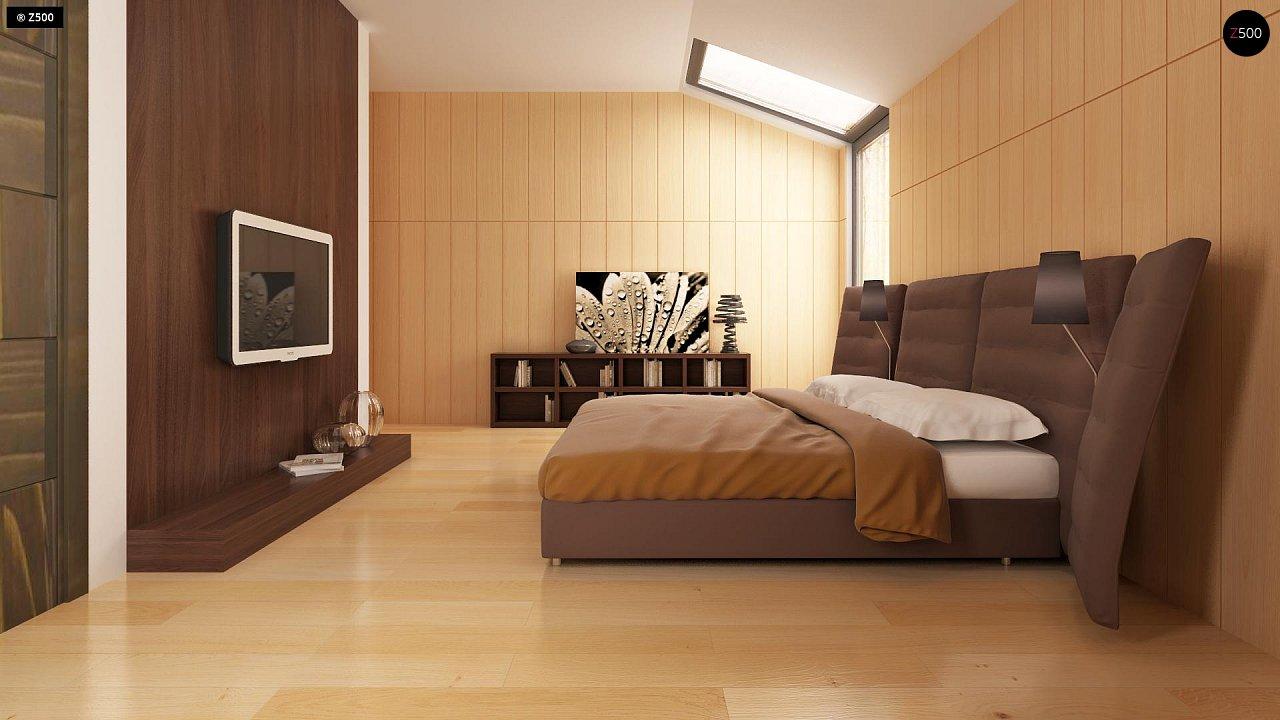 Современный эксклюзивный дом с каменной облицовкой, подходящий для узкого участка. 11