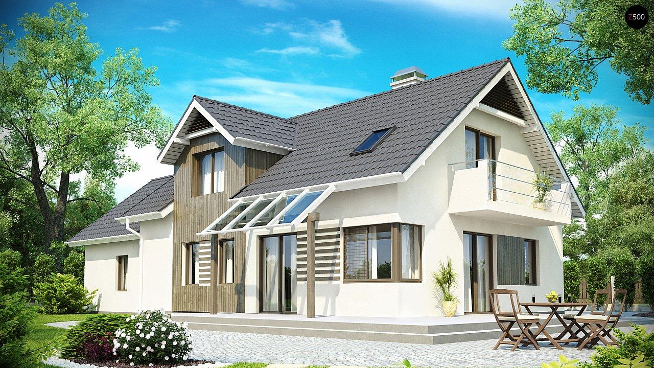 Просторный функциональный дом с гаражом, красивыми мансардными окнами и дополнительной спальней на первом этаже. - фото 2