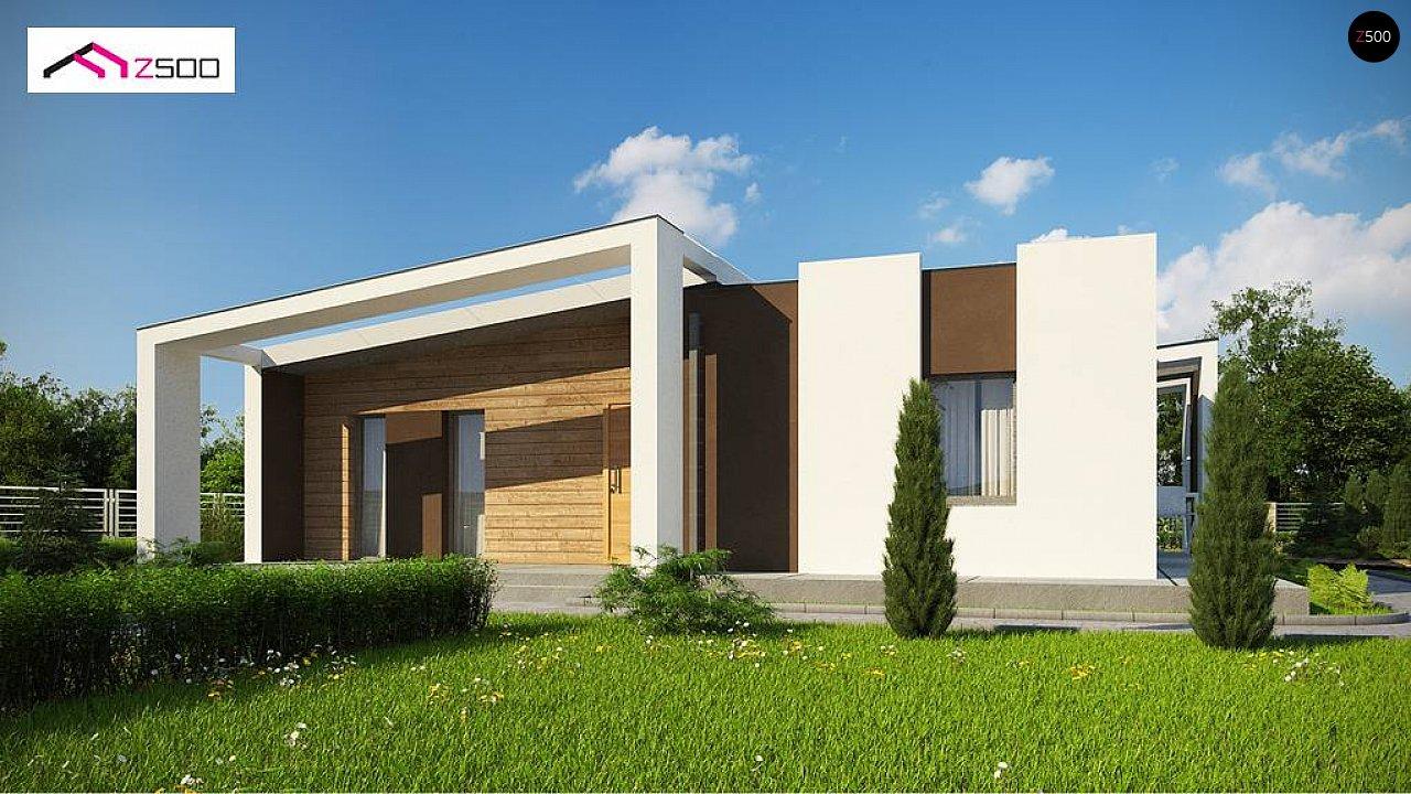 Современный и функциональный одноэтажный дом с уникальной архитектурной формой. 2