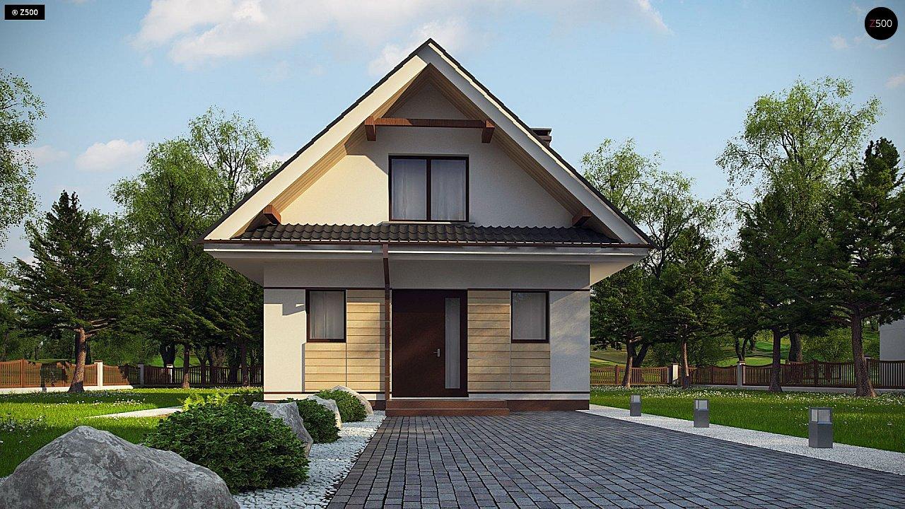 Небольшой мансардный дом с верандой, подойдет для строительства на узком участке. - фото 2
