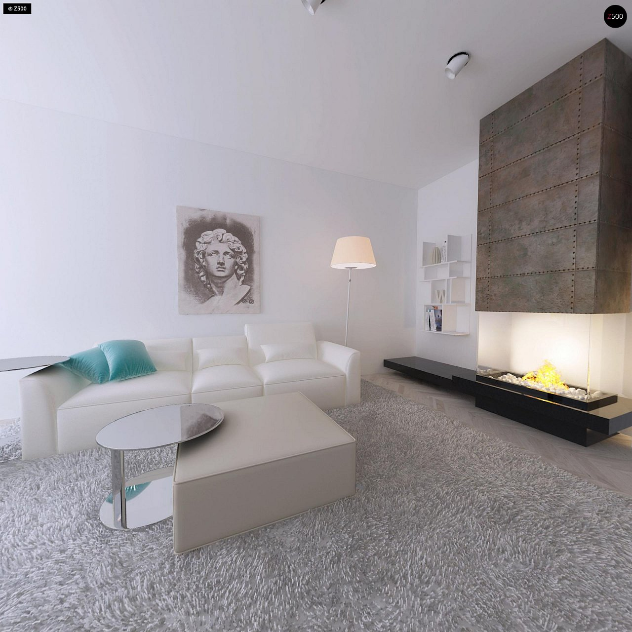 Проект компактного двухэтажного дома строгого современного стиля. 5
