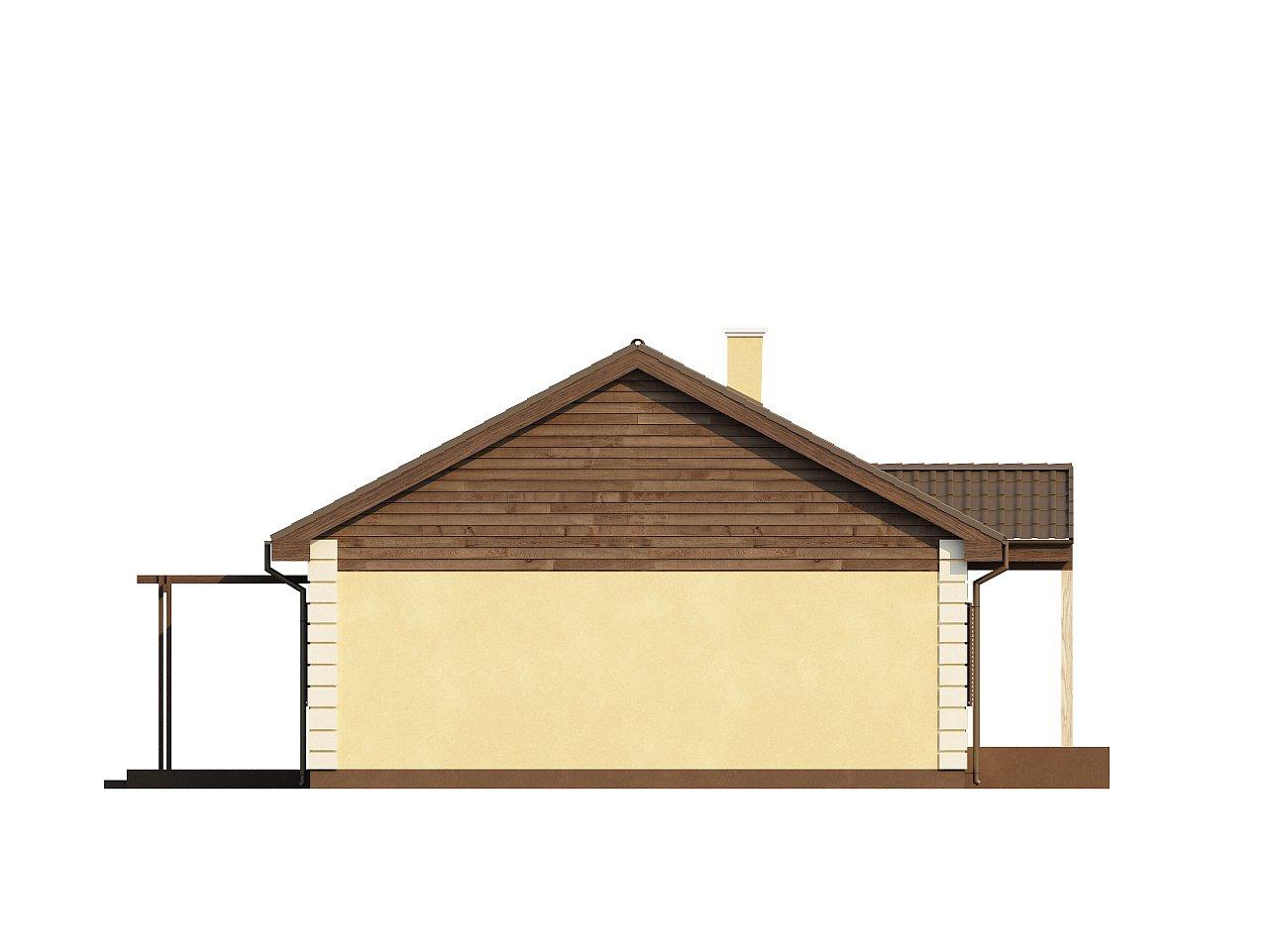 Выгодный и простой в строительстве дом полезной площадью 100 м2. 14