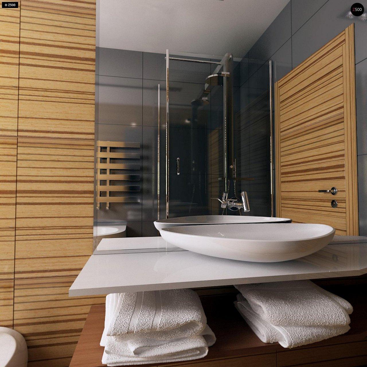 Проект одноэтажного практичного и уютного дома с крытой террасой. 14