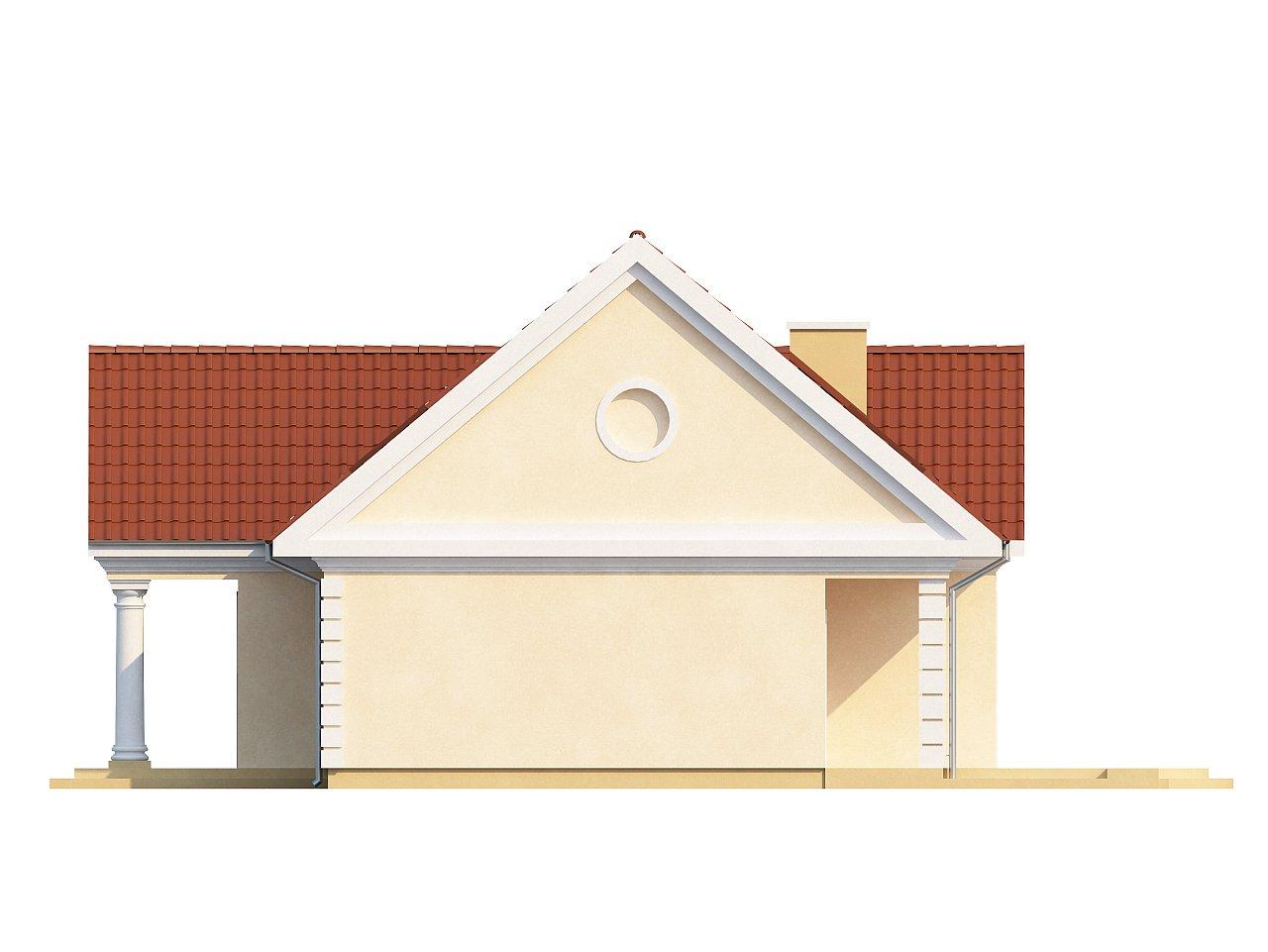 Аккуратный дом с мансардой и дополнительной спальней на первом этаже. - фото 6