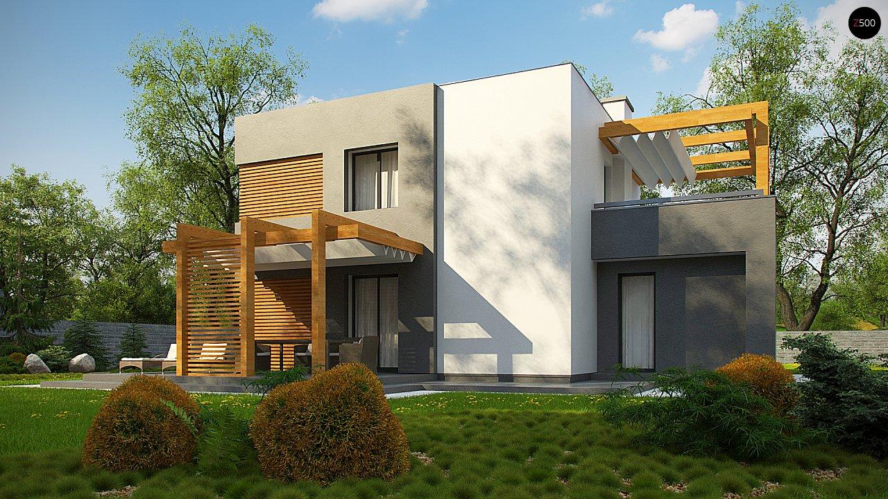 Двухэтажный коттедж современного лаконичного дизайна 7
