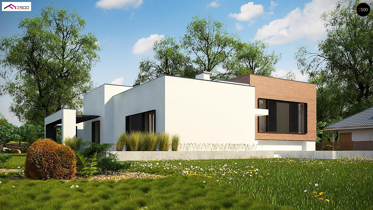 Современный дом минималистичного дизайна с подвалом - фото 1