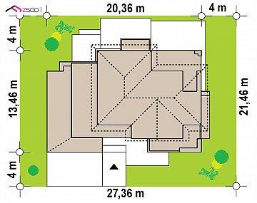 Двухэтажный дом с гаражом на два автомобиля и двумя спальнями на первом этаже план помещений 1