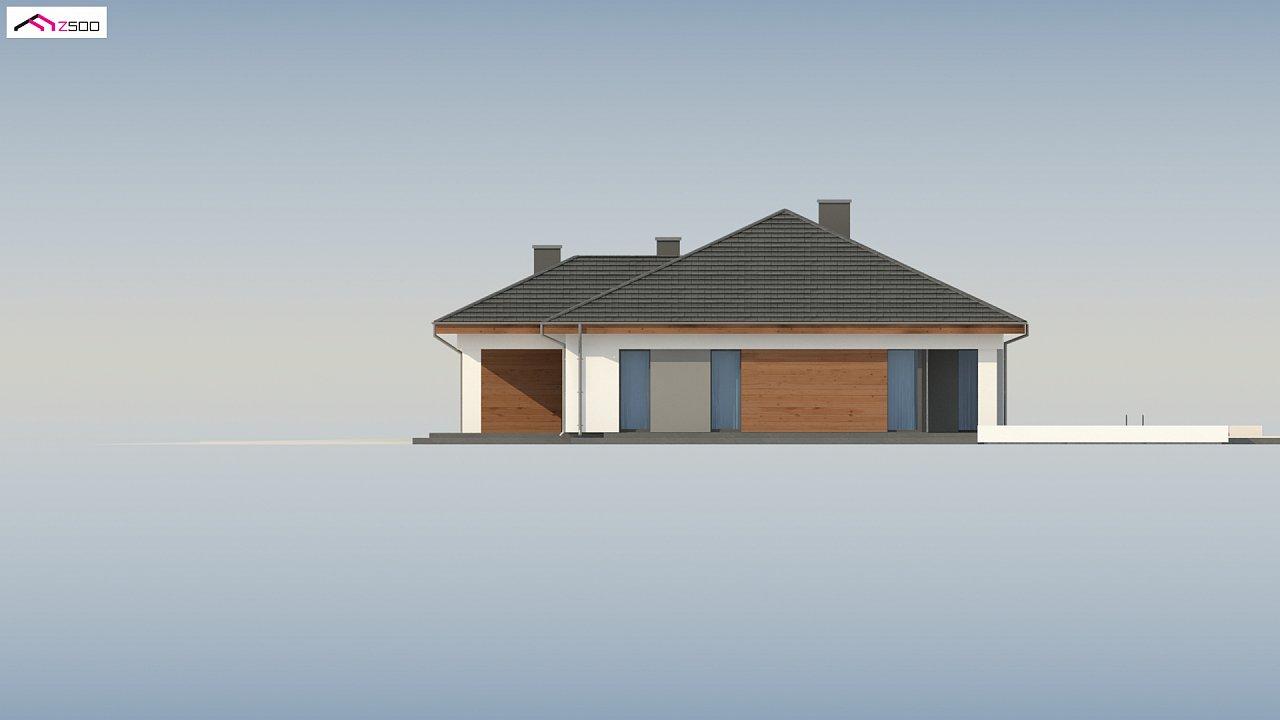 Проект комфортного одноэтажного дома с гаражом для двух авто. 10