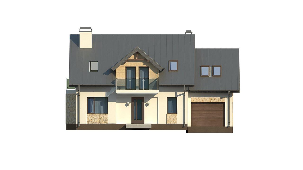 Стильный современный дом с пятью спальнями и гаражом. 15