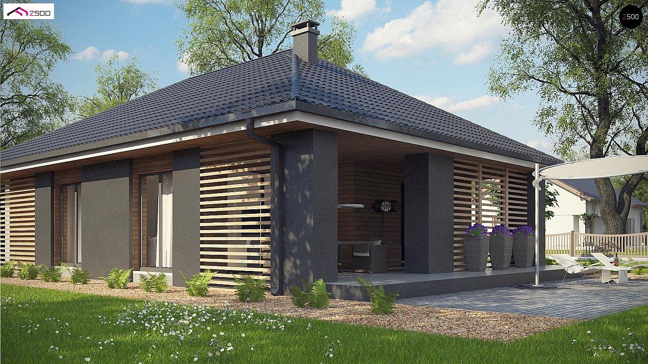 Одноэтажный дом в современном стиле с двойным гаражом 6
