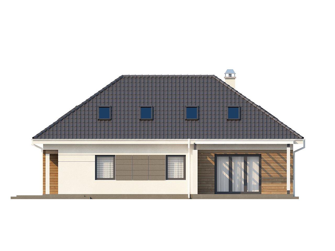 Просторный дом традиционной формы с гаражом и дополнительной небольшой ночной зоной на первом этаже. - фото 15