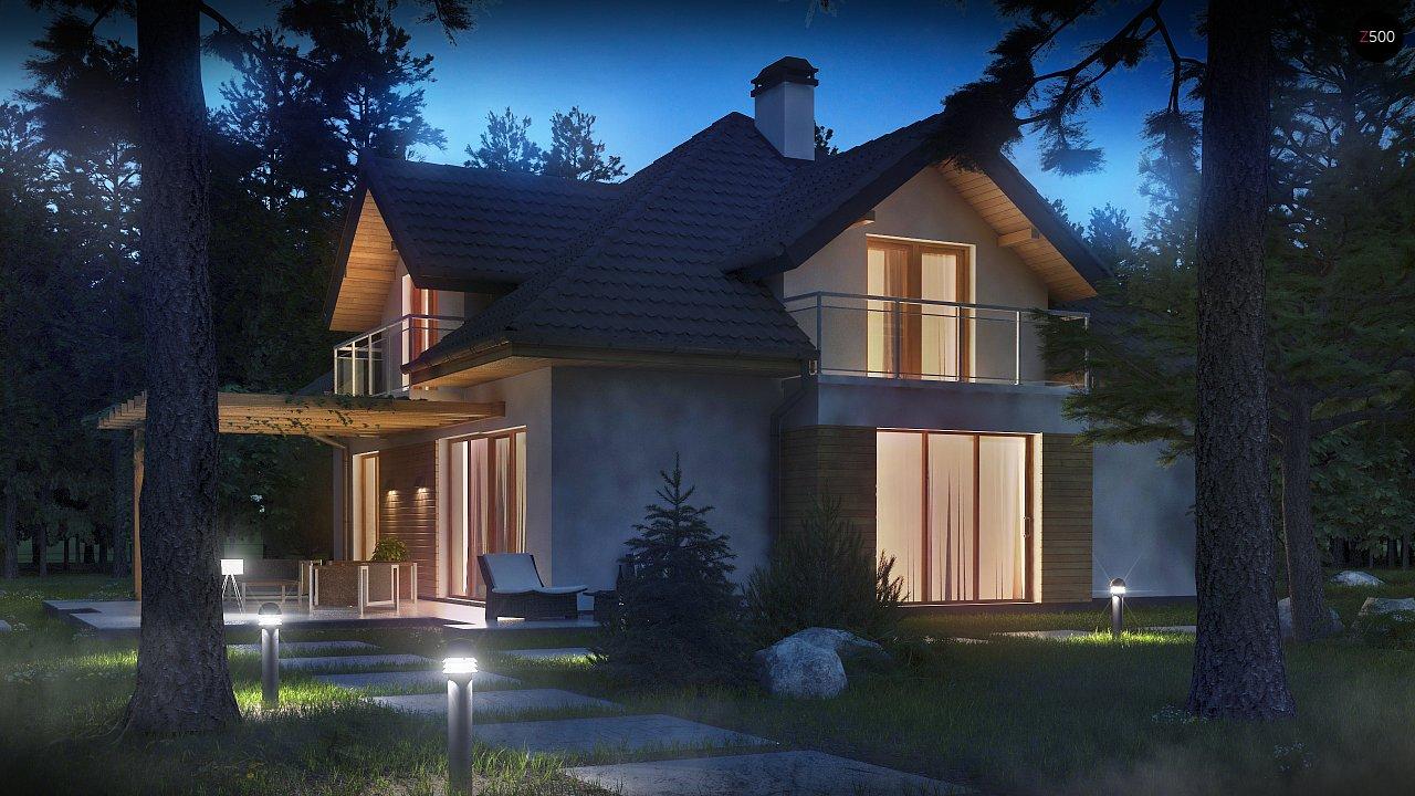 Версия проекта Z270 с альтернативной планировкой мансардного этажа. 5