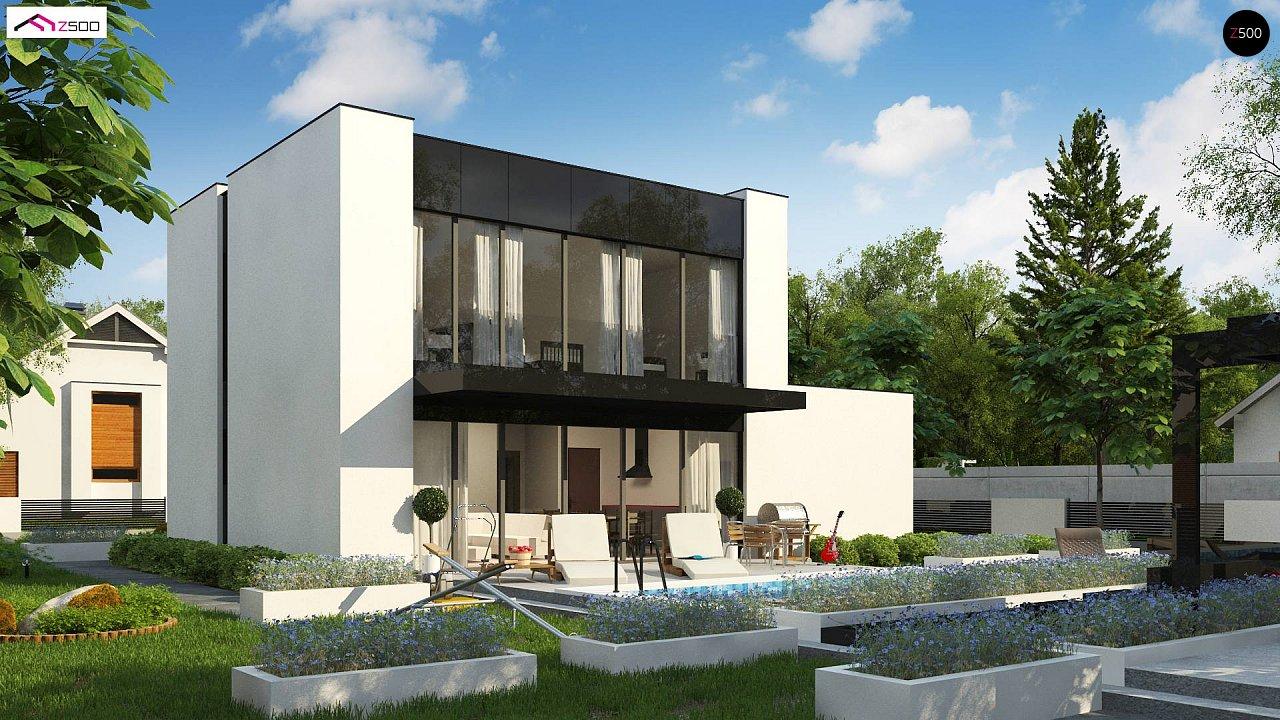Проект современного односемейного дома с гаражом на одну машину. - фото 2