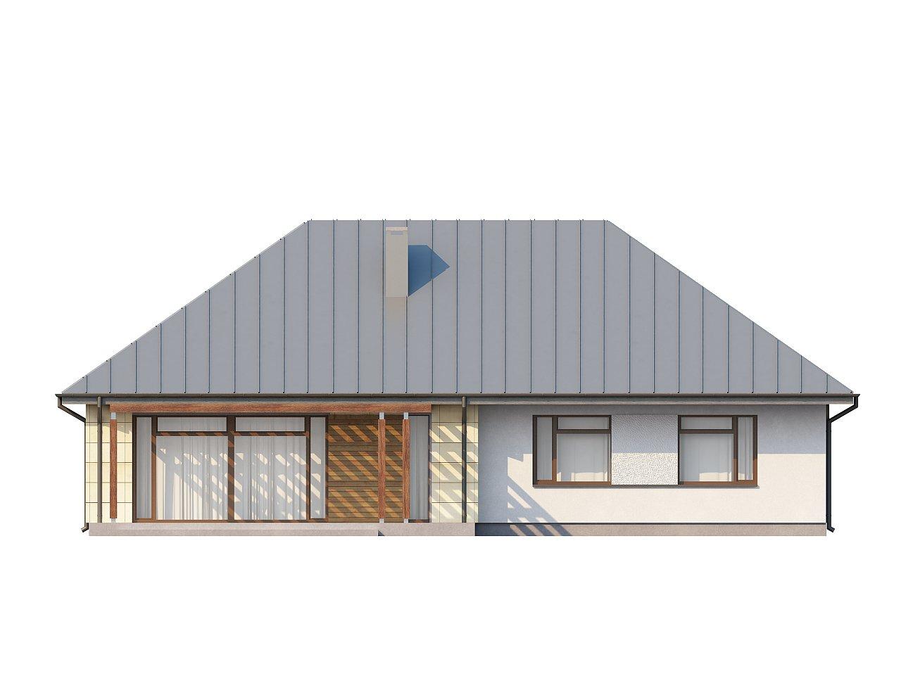 Одноэтажный дом с возможностью обустройства чердачного помещения, оптимальный для южного въезда на участок. 14