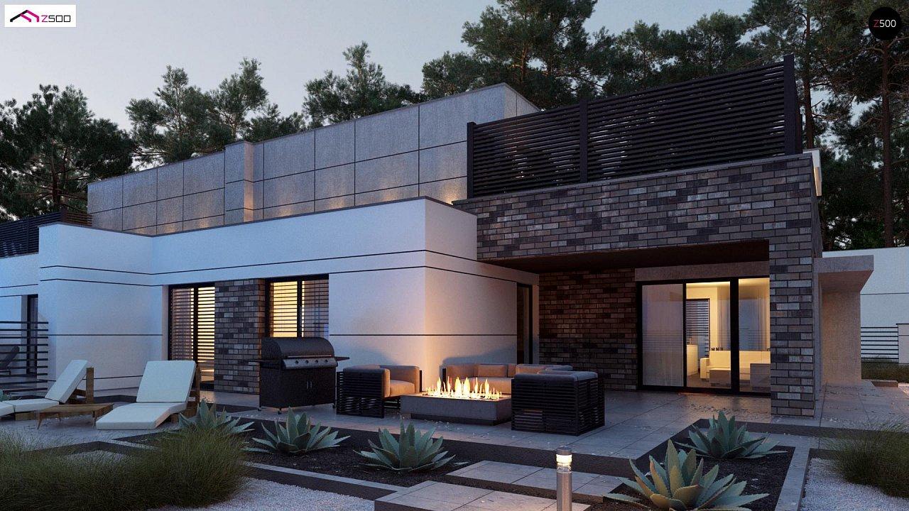 Современный большой дом с плоской крышей - фото 1