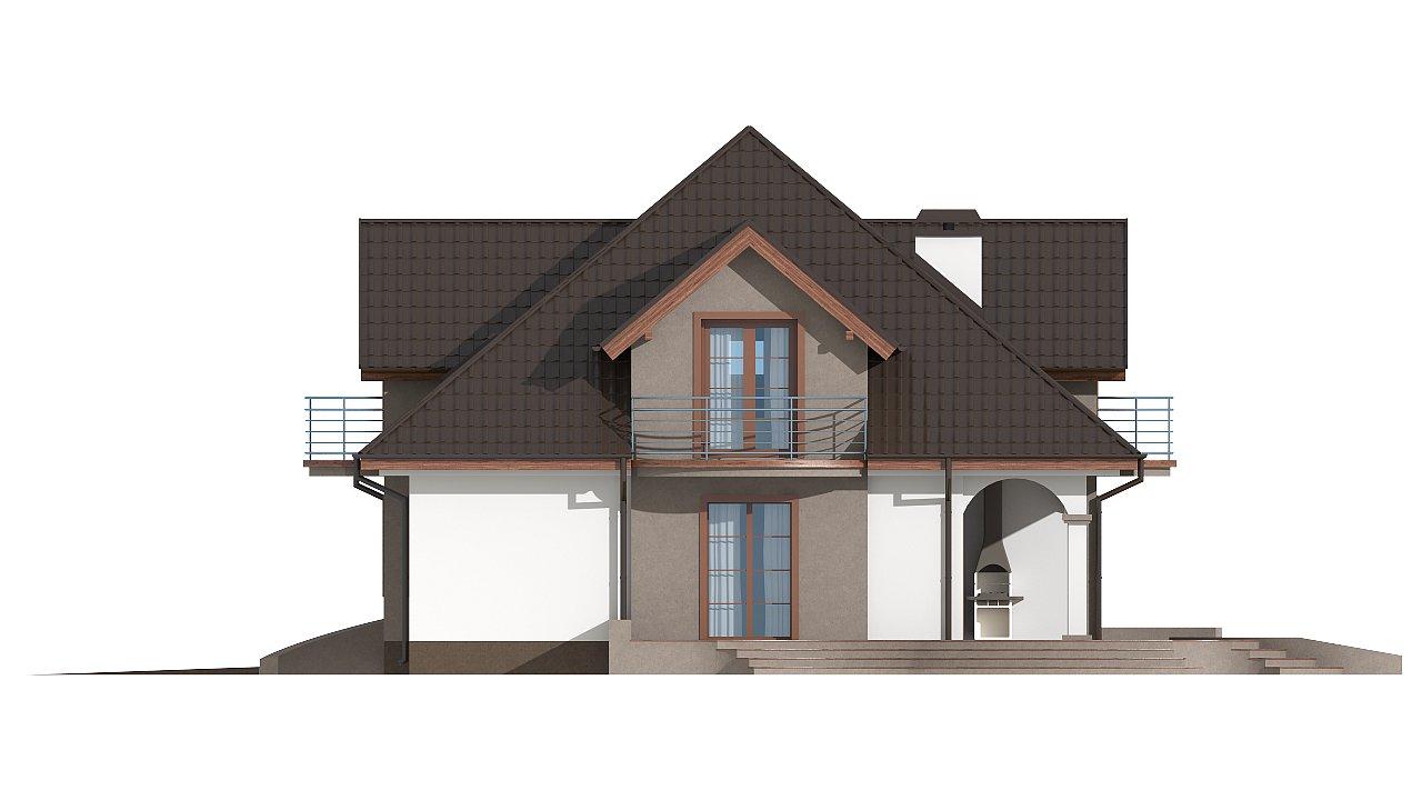 Версия проекта Z18 со встроенным гаражом с левой стороны дома - фото 25