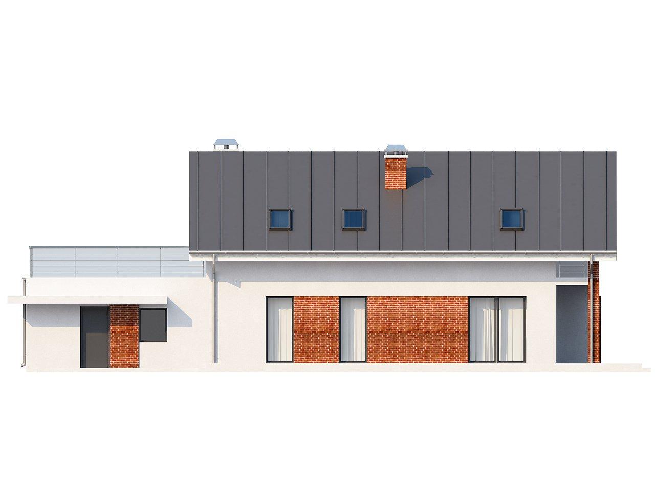 Просторный и комфортный дом со встроенным гаражом и двумя спальнями на первом этаже. 6