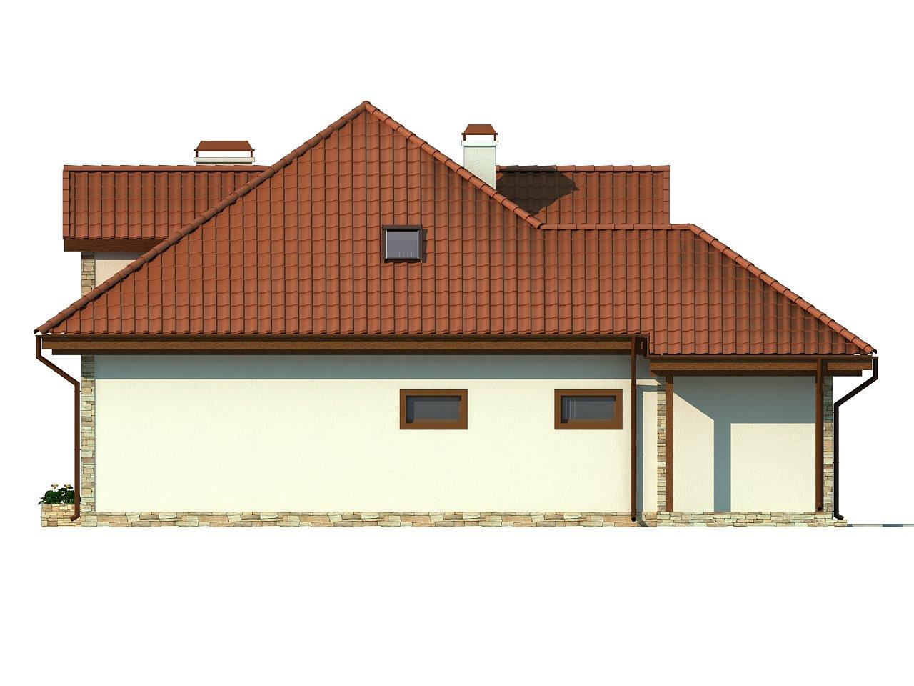Проект просторного и уютного дома с гаражом, эркером, красивыми мансардными окнами. - фото 6