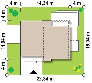 Комфортный современный дом с гаражом для двух авто и обширной террасой на втором этаже. план помещений 1
