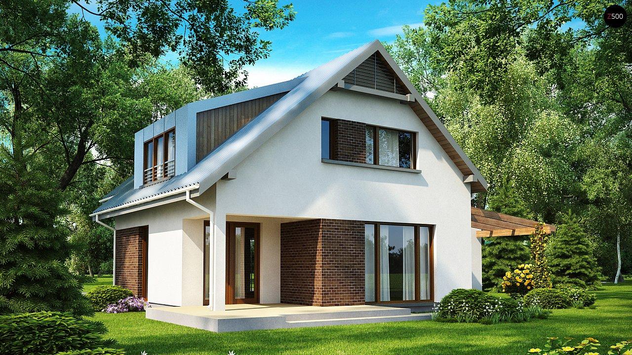Компактный функциональный дом с оригинальными архитектурными элементами. 2