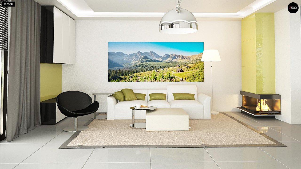 Функциональный и привлекательный дом с гаражом для узкого участка. 6