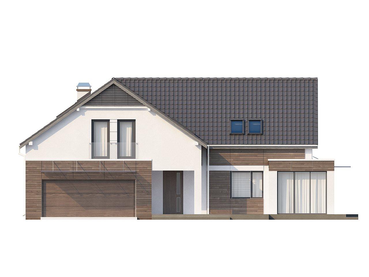 Просторный и комфортный дом с гаражом для двух автомобилей и угловым эркером. 3