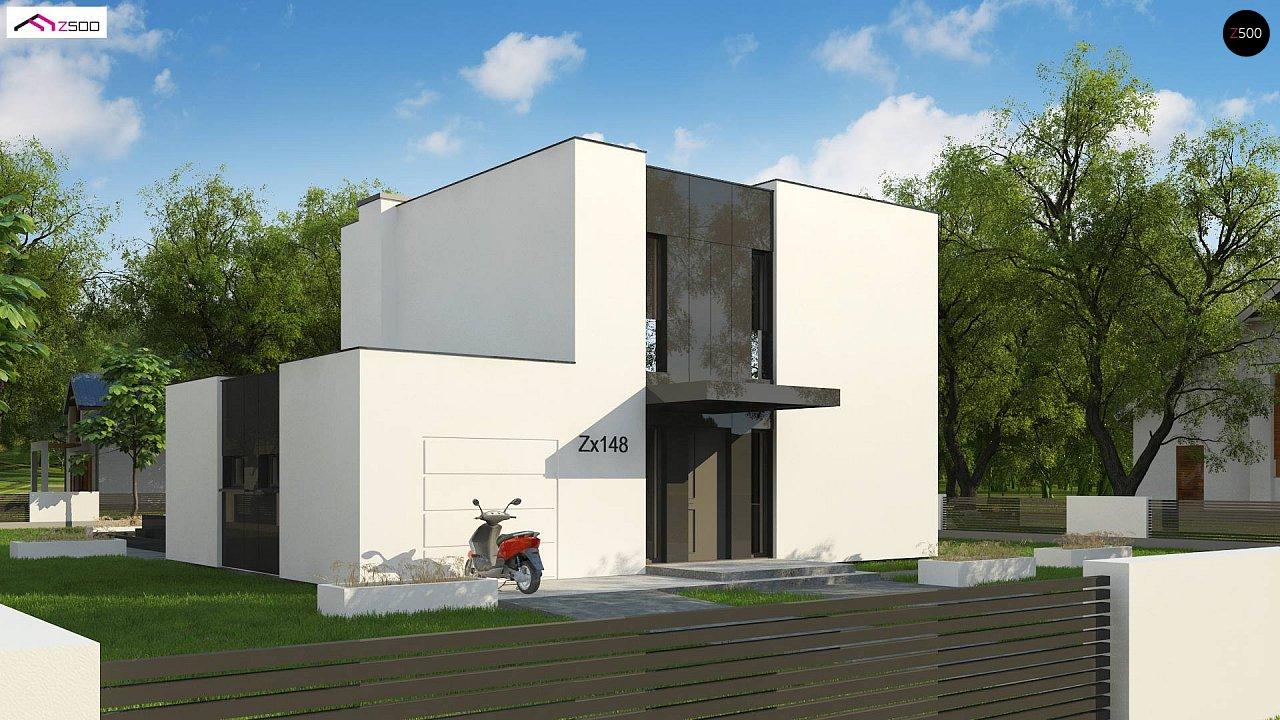 Проект современного односемейного дома с гаражом на одну машину. - фото 4