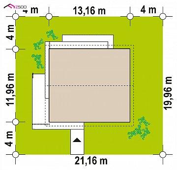Комфортный просторный дом с одноуровневой планировкой. план помещений 1