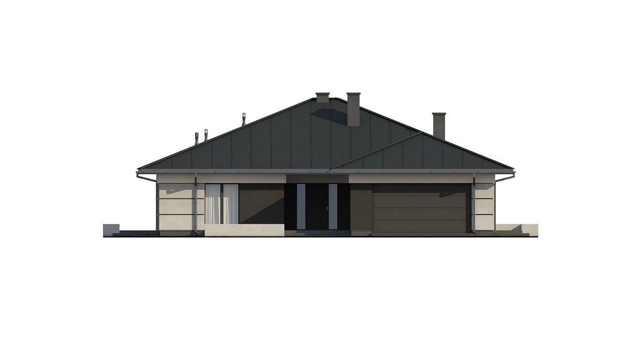 Проект одноэтажного дома с гаражом на две машины - фото 16