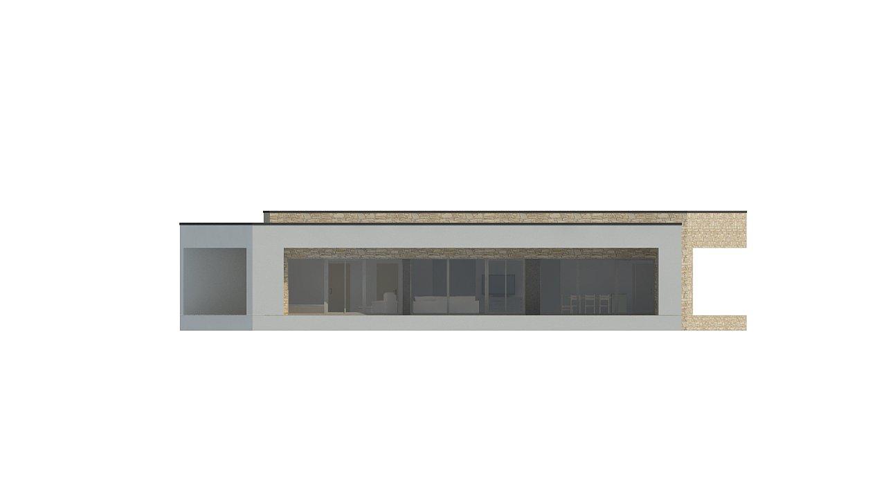 Одноэтажный коттедж с гаражом на одну машину и уютной террасой 13