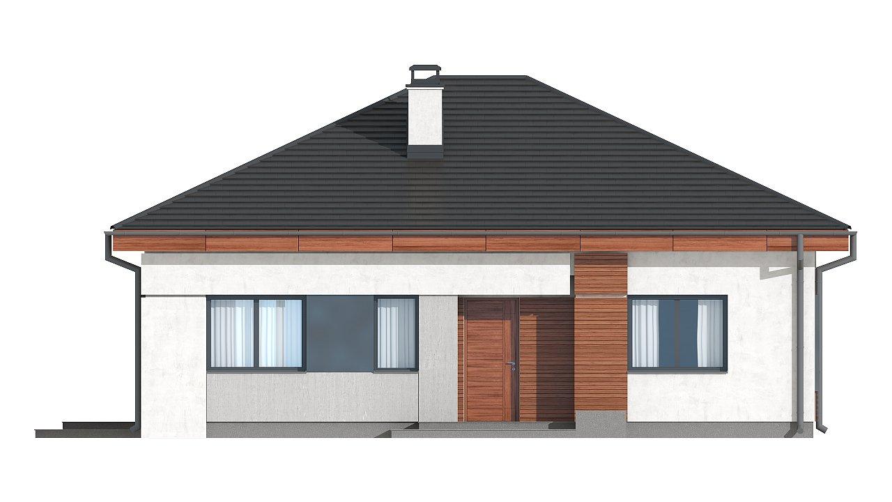 Проект стильного одноэтажного дома в классическом стиле. 20