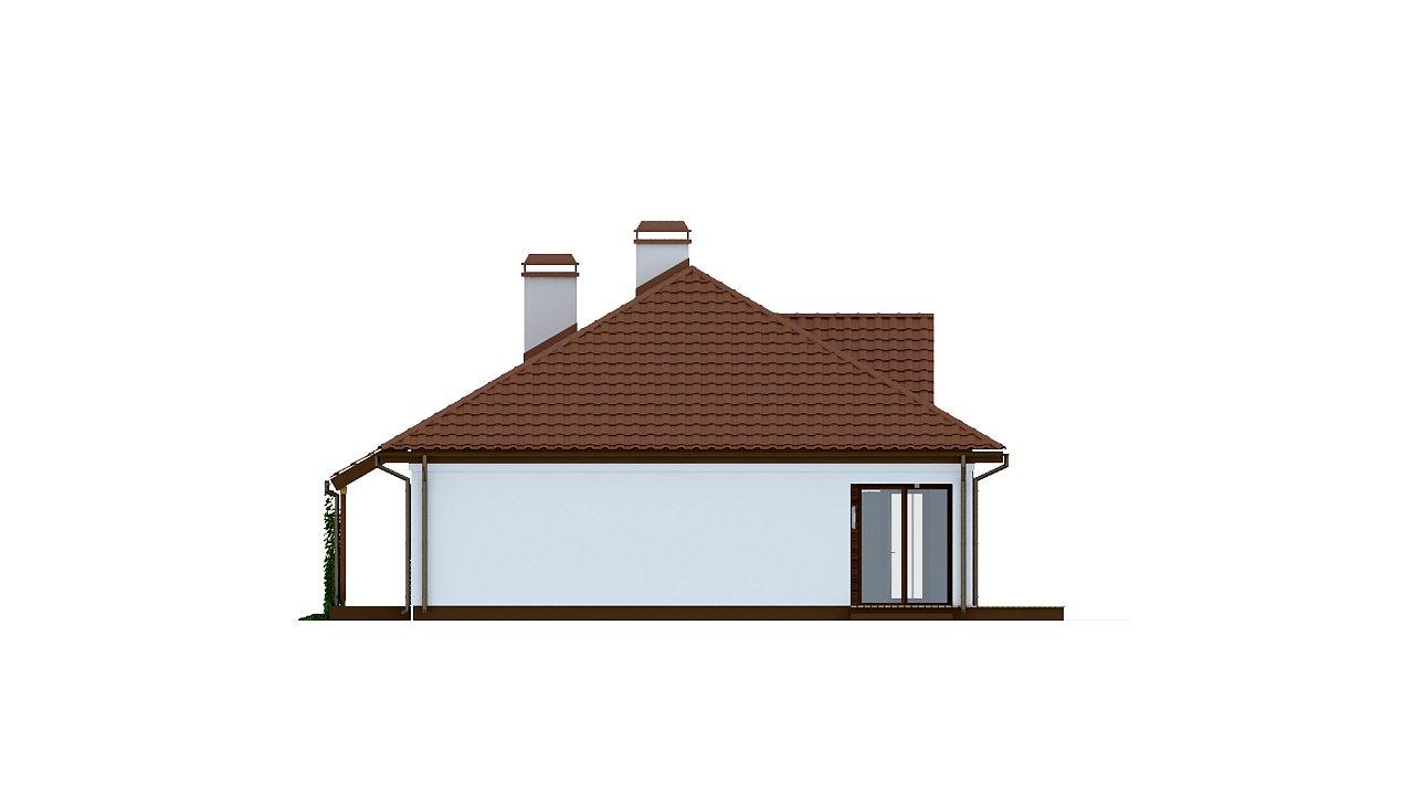 Традиционный одноэтажный дом с крытой террасой и оранжереей. 6