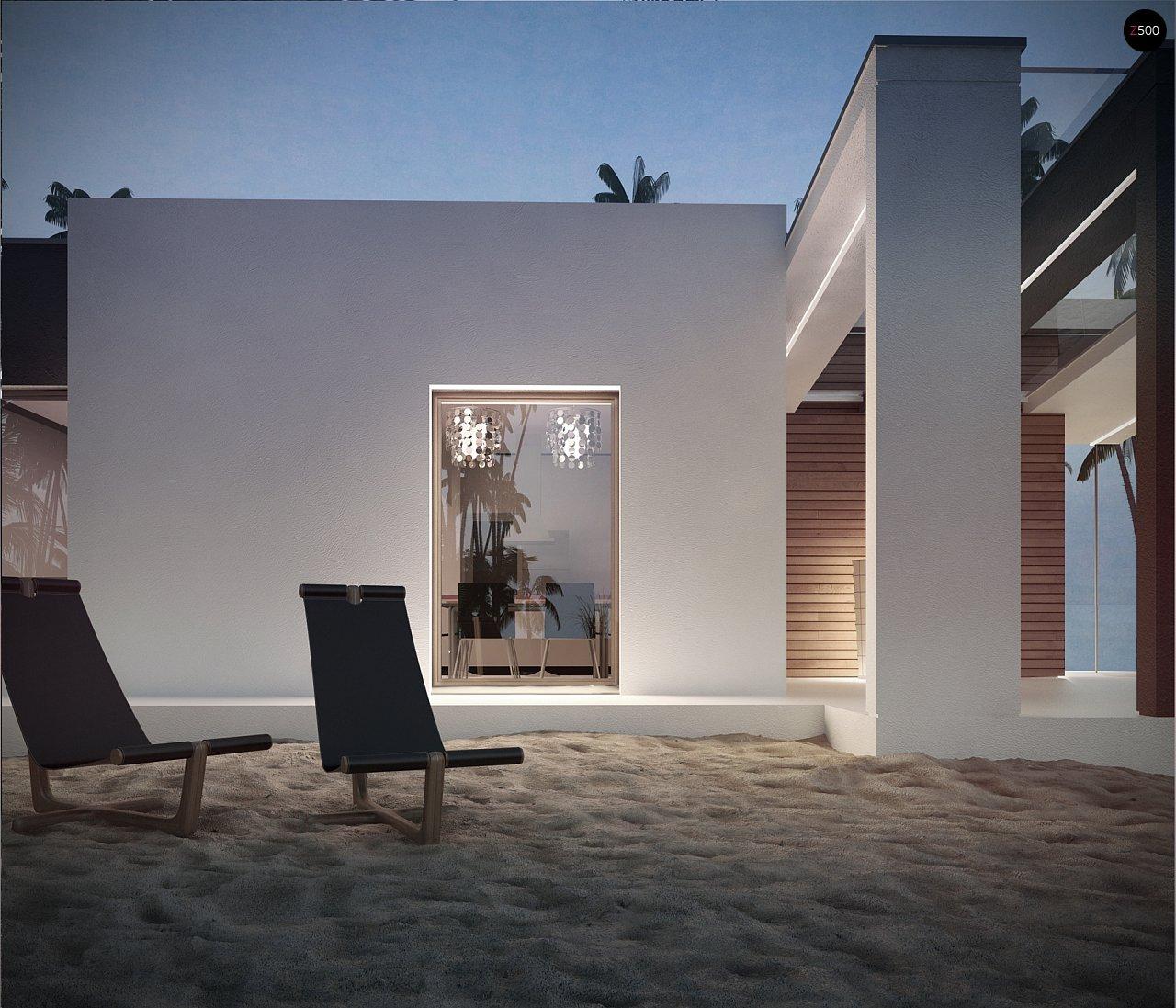Проект современного дома в стиле хай-тек с двумя спальнями. - фото 4