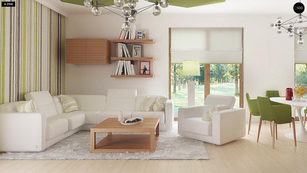 Стильный одноэтажный дом с комфортной крытой террасой 11