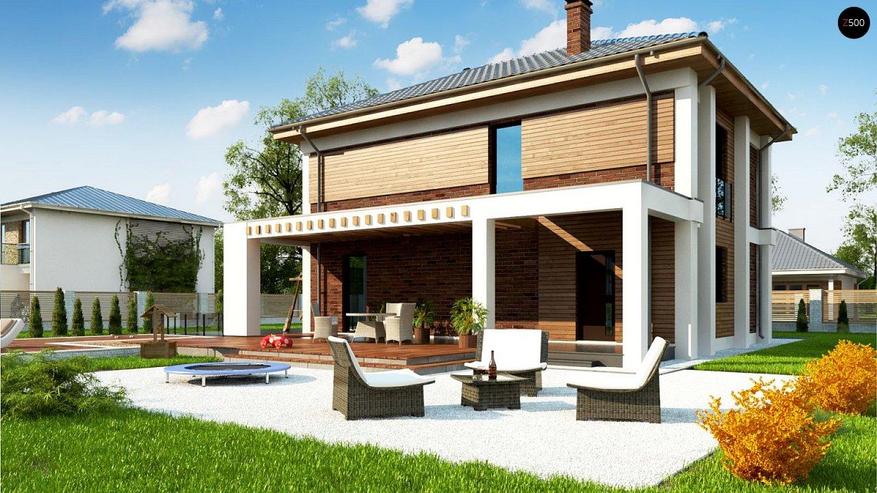 Двухэтажный коттедж с уютной террасой и балконом 2