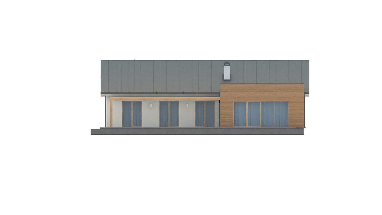 Комфортный функциональный одноэтажный дом простой формы и с гаражом для двух авто. 12