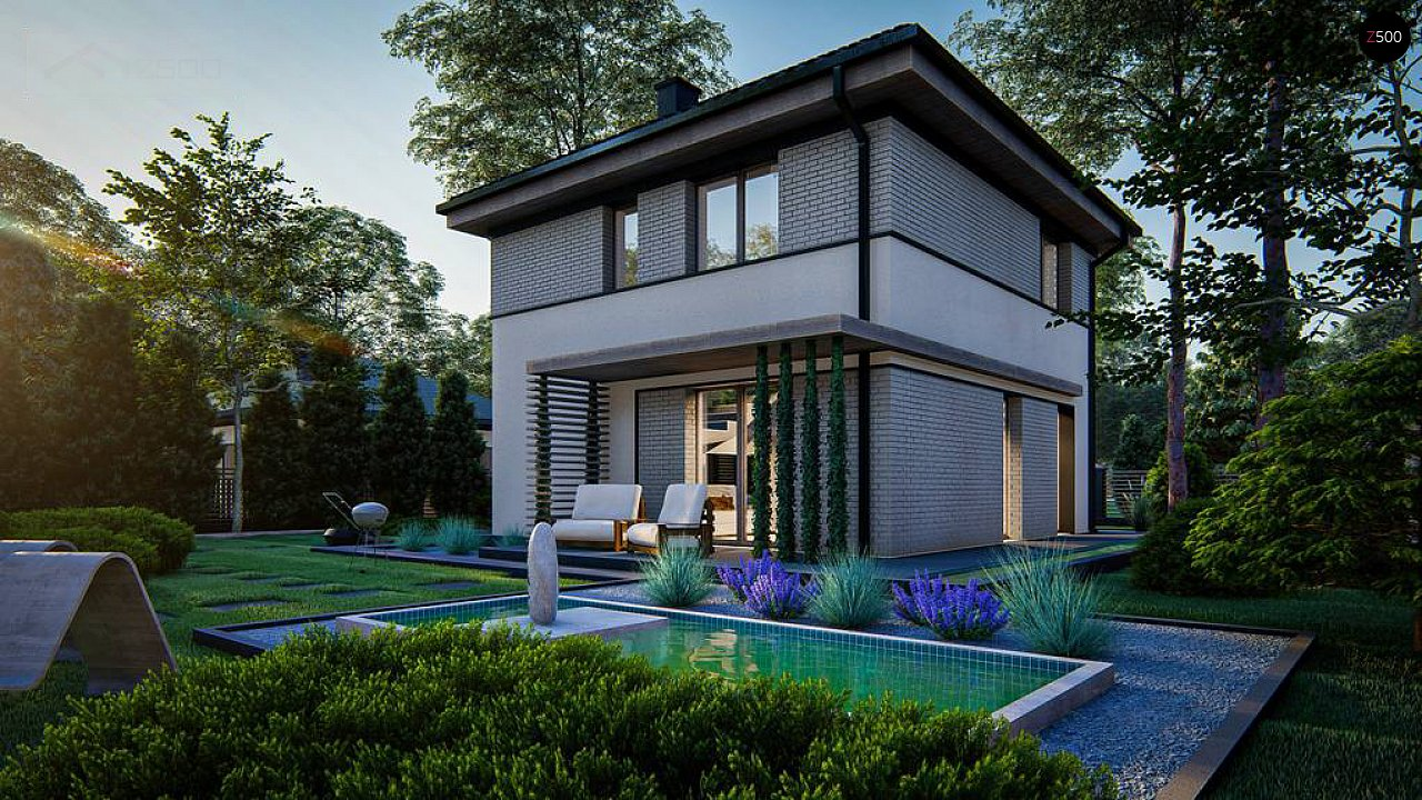 Функциональный двухэтажный дом 3