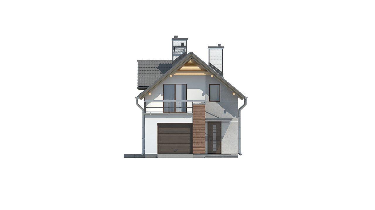 Функциональный и привлекательный дом с гаражом для узкого участка. 17