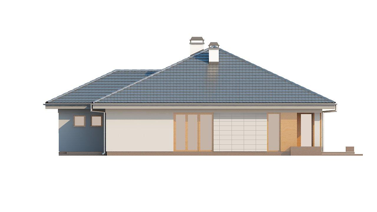 Практичный одноэтажный дом с гаражом для двух автомобилей и большим хозяйственным помещением. 22
