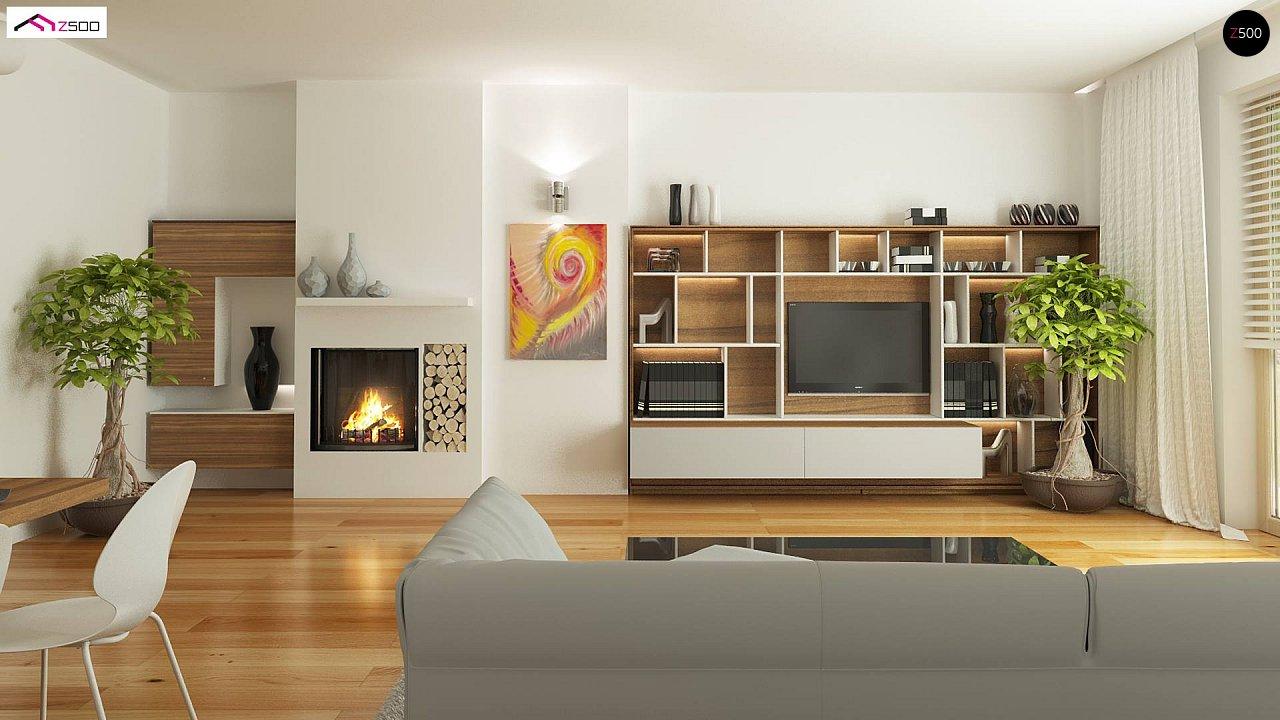 Дом, выполненный в традиционном стиле с одноуровневой планировкой. 11
