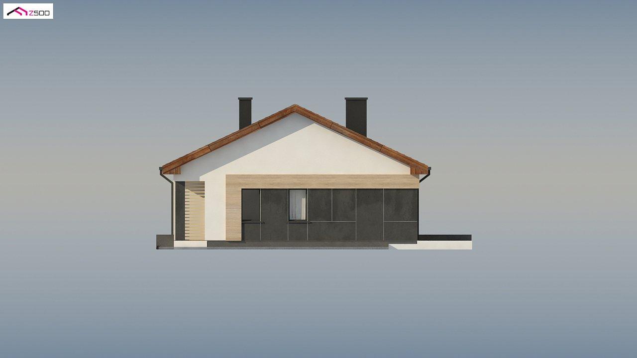 Стильный одноэтажный дом с двускатной кровлей и грамотной планировкой 18