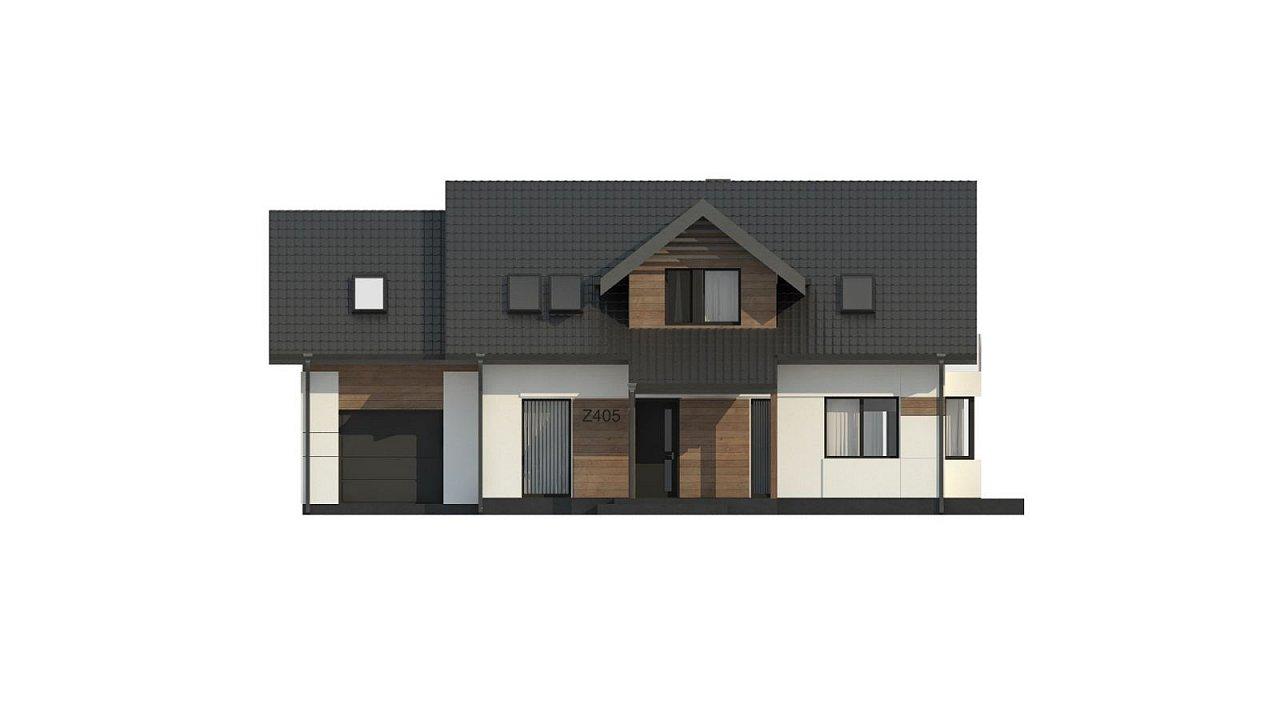 Красивый дом в традиционном стиле архитектуры, с комнатой на пером этаже и гаражом. - фото 7