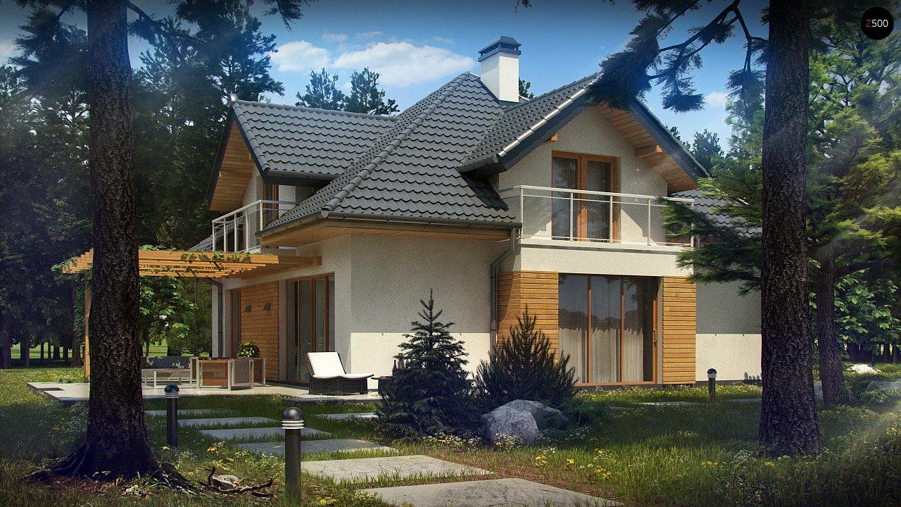 Версия проекта Z270 с альтернативной планировкой мансардного этажа. 2