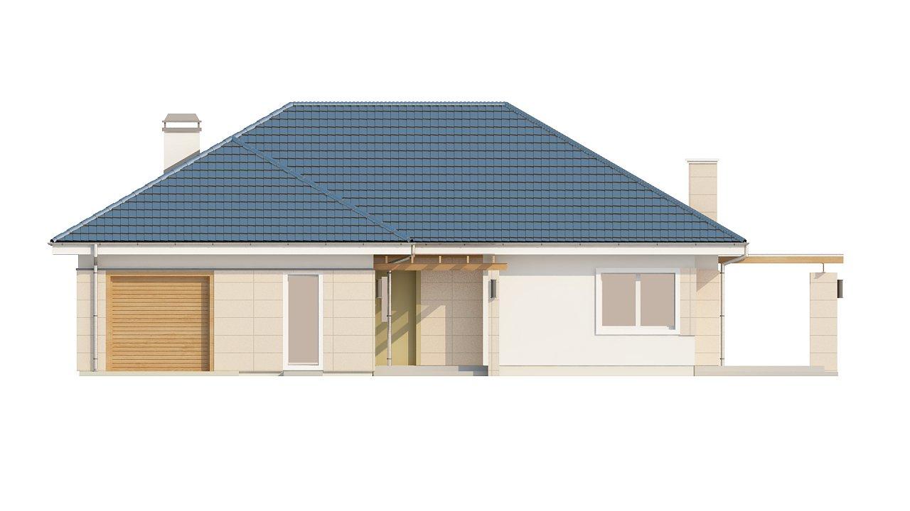 Практичный одноэтажный дом с гаражом для одной машины и возможностью адаптации чердачного помещения. - фото 3