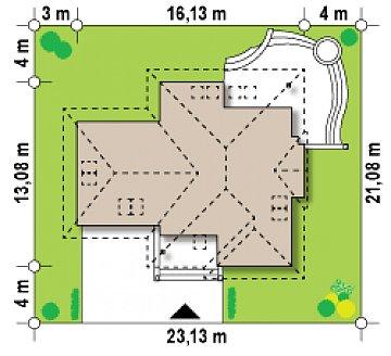 Просторный функциональный дом сложной формы. план помещений 1