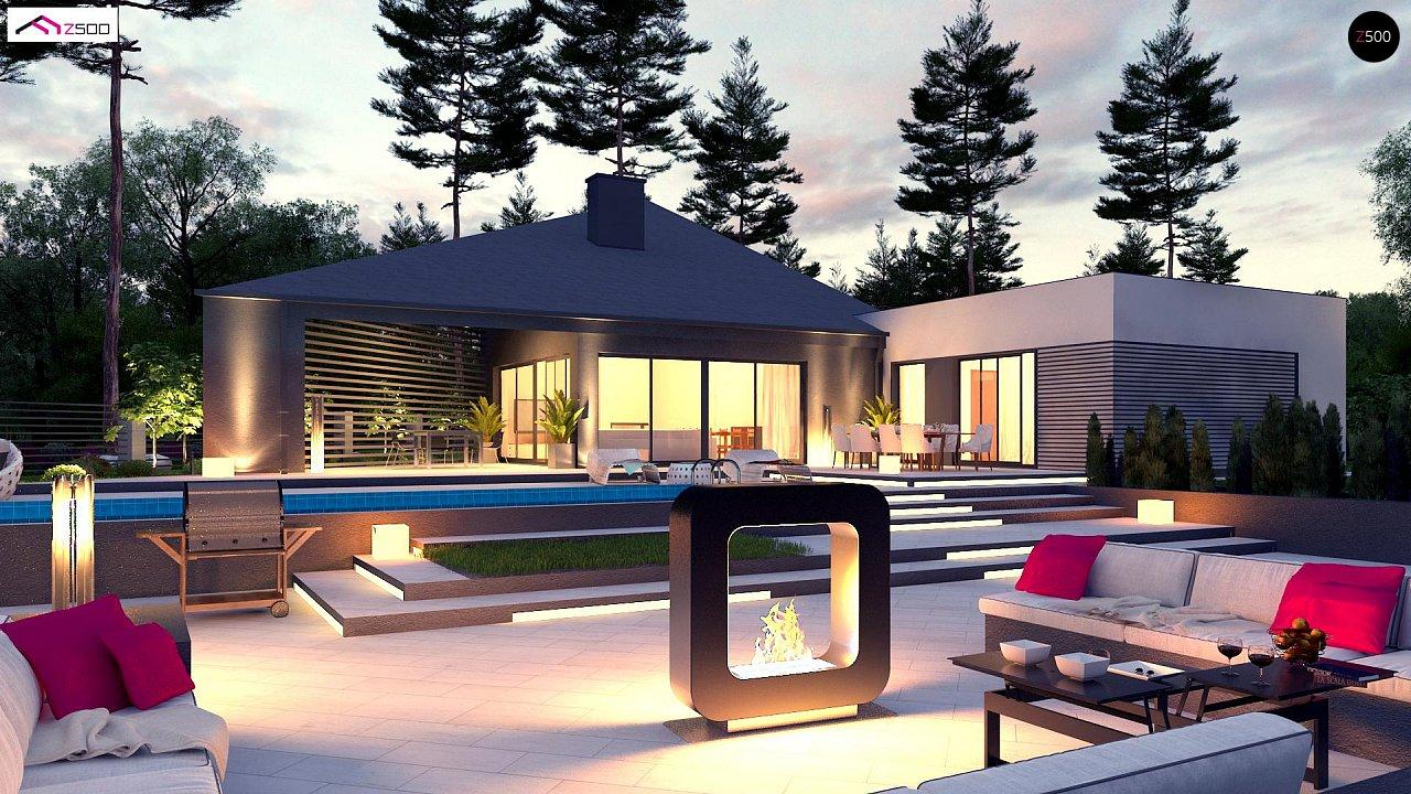 Проект современного дома с вторым светом, стильной кровлей и удобной планировкой. 6