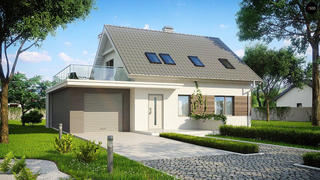 Удобный дом с эркером, балконом и террасой над гаражом. 2