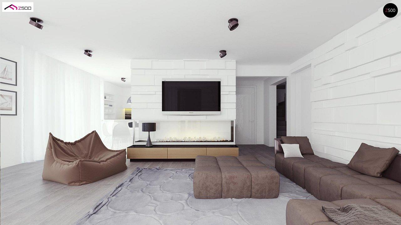 Просторный и комфортный двухэтажный дом с большими окнами. 5