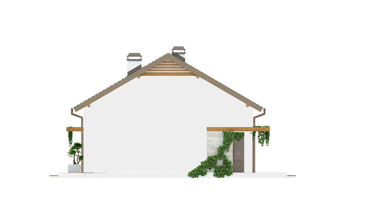 Проект небольшого практичного одноэтажного дома. Есть возможность обустройства чердачного помещения. 23