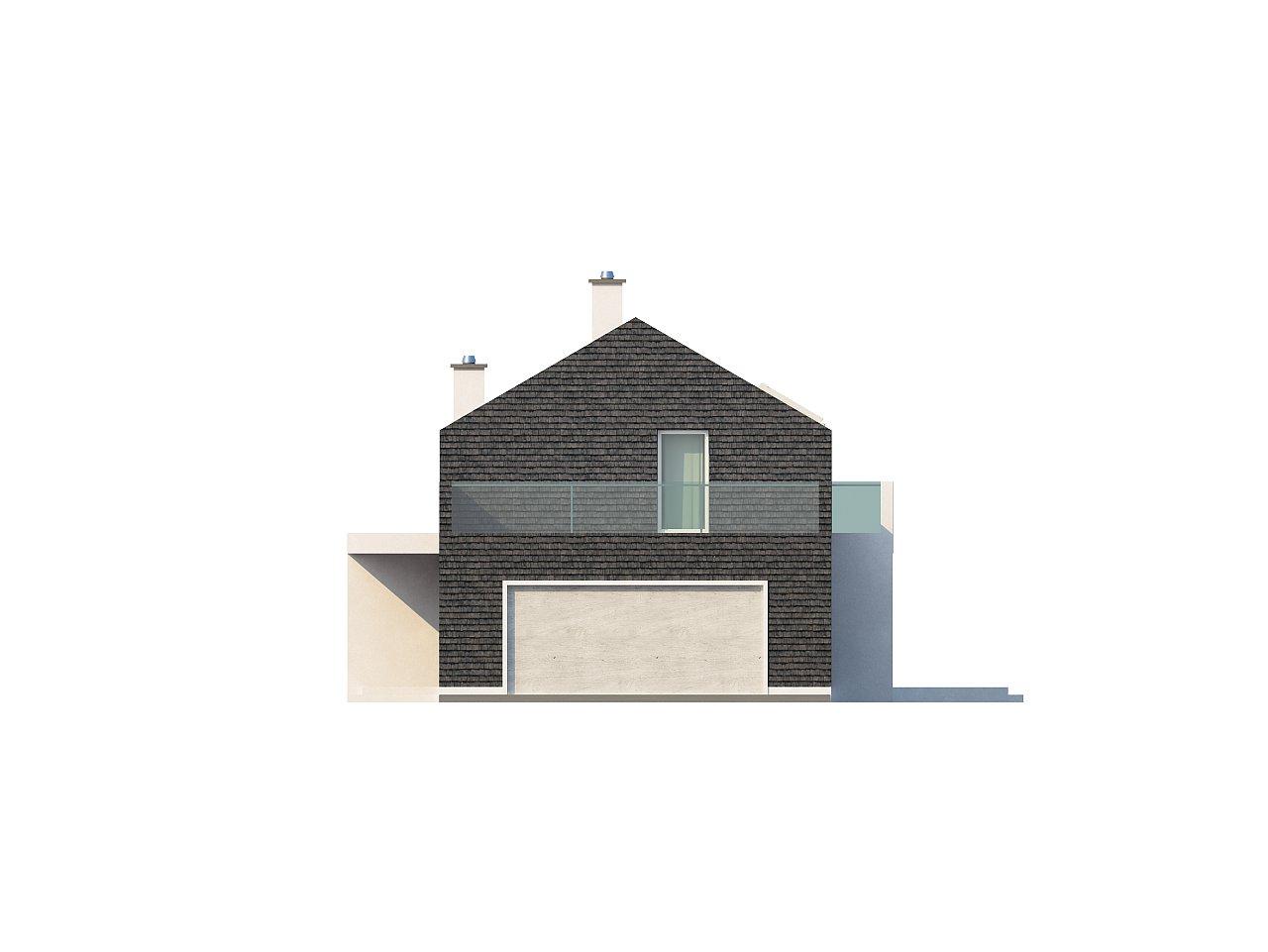 Современный эксклюзивный дом с каменной облицовкой, подходящий для узкого участка. 14